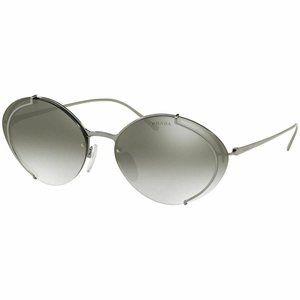Prada Oval Style Grey Gradient Mirrored Lens